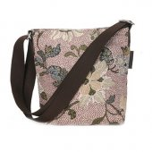 Ceannis - Väska Shoulder Bag Dusty Pink Flower Linen Small