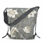ceannis väska shoulder bag black flower linen