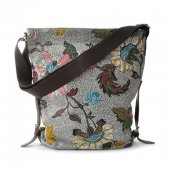 Ceannis - Väska Shoulder Bag Flower Linen Grey