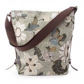 Ceannis - Väska Shoulder Bag Flower Linen Soft Green