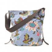 Ceannis - Väska Shoulder Bag Light Blue Flower Linen