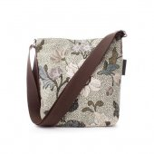 Ceannis - Väska Small Shoulder Bag Flower Linen Soft Green