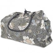 ceannis weekend bag black flower linen