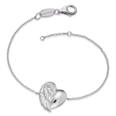 Engelsrufer - Armband Heartwing Silver