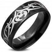 Eron - Ring Tribal Svart