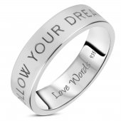 Love Words Jewellery - Ring Follow Your Dreams