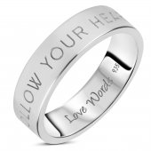 Love Words Jewellery - Ring Follow Your Heart