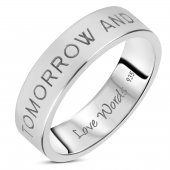 Love Words Jewellery - Ring Today Tomorrow And Forever
