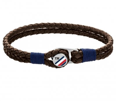 Tommy Hilfiger - Armband Button Brunt