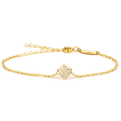 Blomdahl - Armband Brilliance Square Crystal Guld