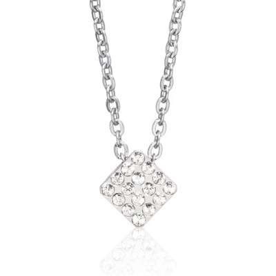 Blomdahl - Halsband Brilliance Square Crystal Stål