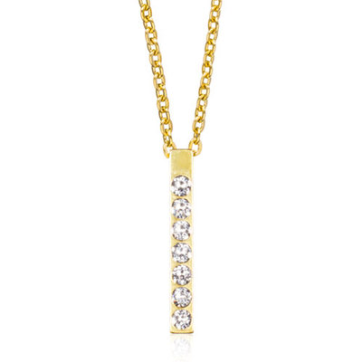 Blomdahl - Halsband Brilliance Straight Crystal Guld
