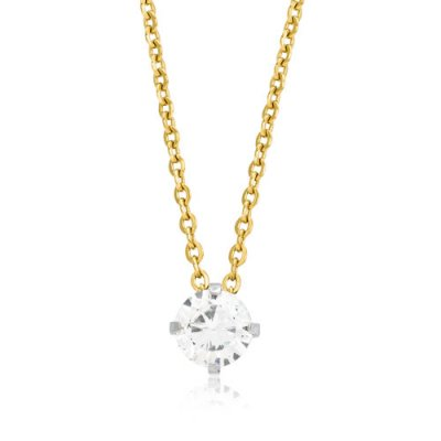 Blomdahl - Halsband Tiffany Medium Crystal Guld