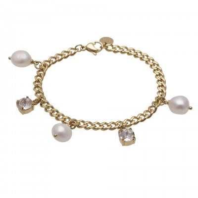 Bud To Rose - Armband Pearl Guld