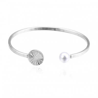 Bud To Rose - Armring Belize Pearl Silver