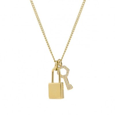 Bud To Rose - Halsband Love Lock Mini Guld