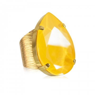 Caroline Svedbom - Ring Perfect Drop Guld Buttercup Yellow