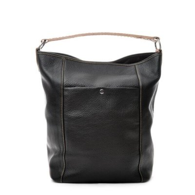 Ceannis - Väska Leather Bucket Bag Black Grained