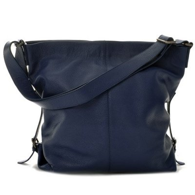 Ceannis - Väska Leather Shoulder Bag Dark Blue Grained