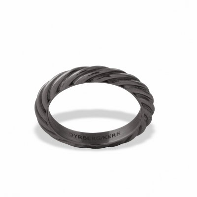 Dyrberg/Kern - Ring Compliments Twisted Svart
