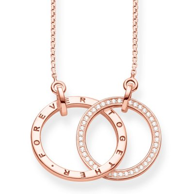 Thomas Sabo - Halsband Together Forever Mellan Rose