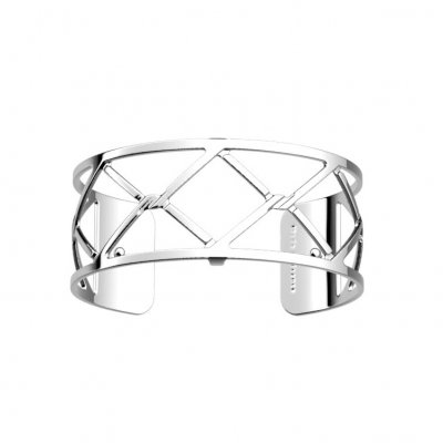 Les Georgettes - Armband 25 Cannage Silver