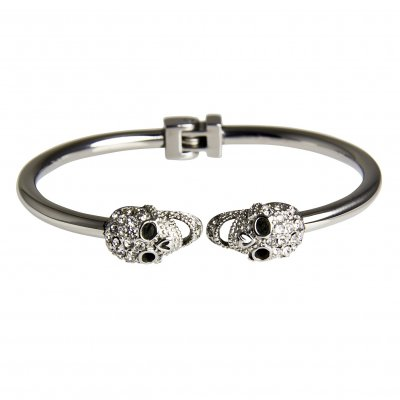 Rock by Sweden - Armband Double Scull Silver
