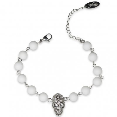 Rock by Sweden - Armband R1222 Vit / Silver
