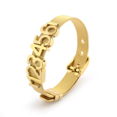 Love Words Jewellery - Armband Stål Guld