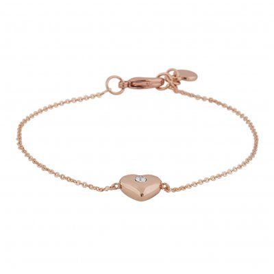 Snö of Sweden Armband Small Heart Chain Rosé
