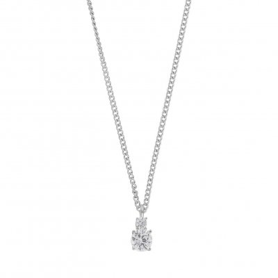 Snö of Sweden Halsband Duo Small Silver