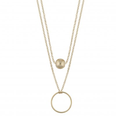 Snö of Sweden Halsband June Double Guld