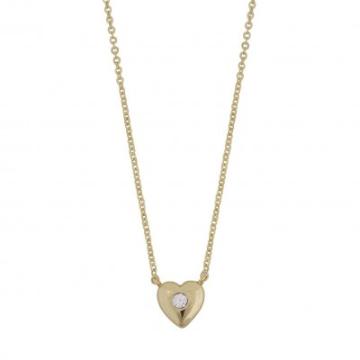Snö of Sweden Halsband Small Heart Chain Guld