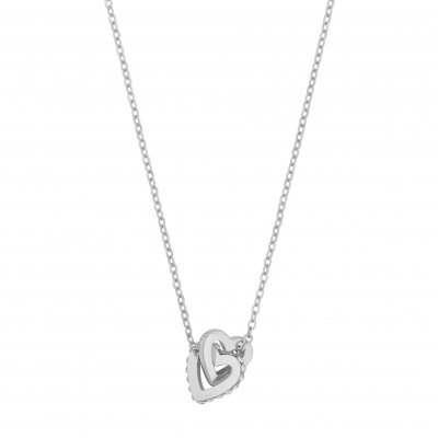 SNÖ OF SWEDEN HALSBAND CONNECTED HEART SILVER