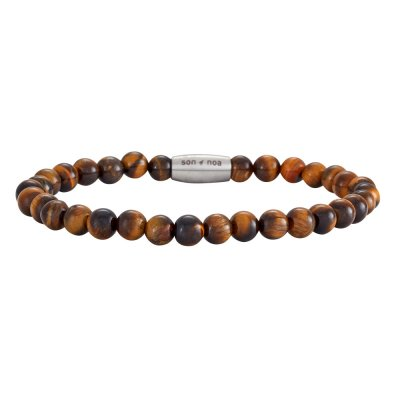 Son Of Noa - Armband Beads Brun Blank