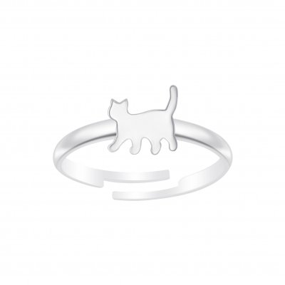 The Botilda - Ring Katt Silver