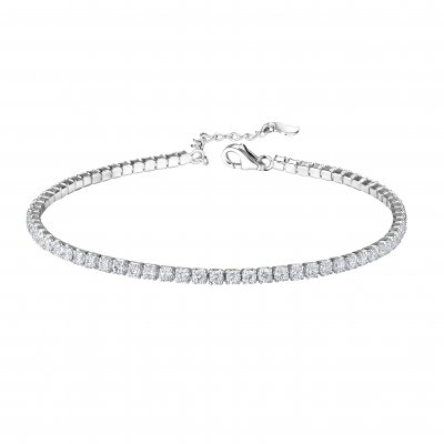 The Botilda - Armband Tennis Silver Klar