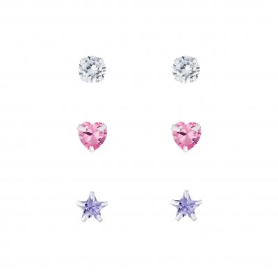 The Botilda - Örhängen 3-pack Cubic Zirconia