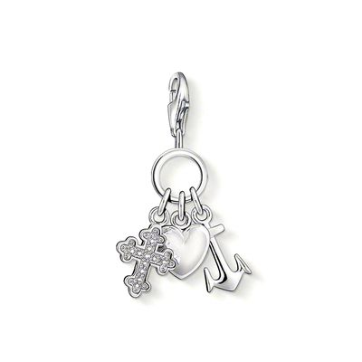 Thomas Sabo - Berlock Charm Club Fait, Love , Hope