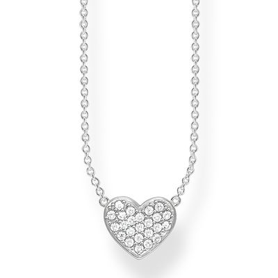 Thomas Sabo - Halsband Dazzling Pave Heart Silver