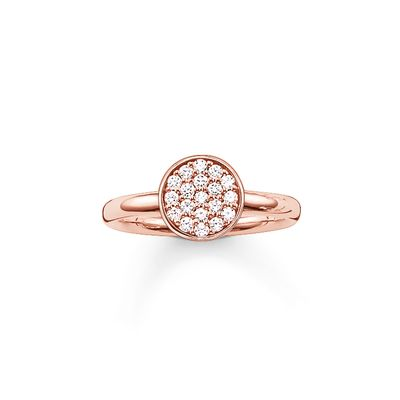 Thomas Sabo - Ring Sparkling Circle Rosé
